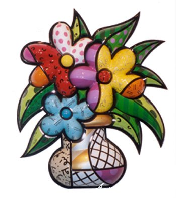 romero britto art. Romero Britto- Britto-Flowers